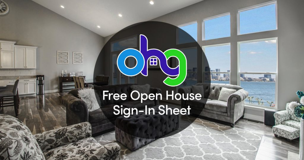Free Real Estate Open House Sign-In Sheet 2